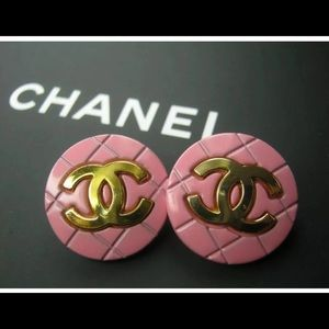 Authentic Chanel Buttons Turned Earrings